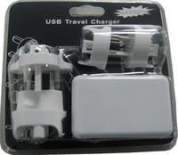 4 Port USB AC Adapter US / EU / UK / AU Plug universal chargerr for iPhone 4 / 4S for iPad 2 / 3 mp3 mp4