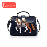 Horse design bag tassel handbag one shoulder female bags beautiful design Messenger bag