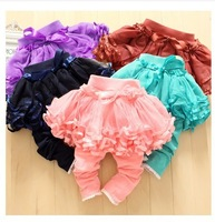 LS270 New arrives 2013 baby and girl pants/skirt legging /tutu flower skirt candy colors legging/Wholesale and Retail/Little Sun