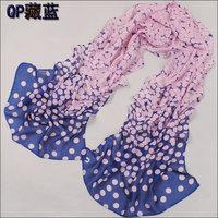hot women winter scarf fashion style silk scarf polka velvet scarf chiffon Bohemia Scarf free shipping (SC047)