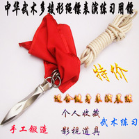 Free shipping Stainless steel rope dart rhombus rope marked circle rope dart bullweed soft