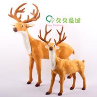 Flock printing Christmas decoration christmas decoration christmas deer elizabethans sika deer