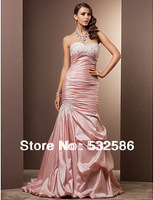 Exempt postage 2013 new  Sweetheart collar  Taffeta fabric Nail bead  pleated caught  caught  Bind style And the skirt