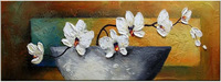 Modern pure hand painting oil painting decorative painting picture frame mural phalaenopsis flower m99
