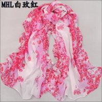 hot women winter scarf fashion style silk scarf polka velvet scarf chiffon Bohemia Scarf free shipping (SC049)