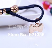 The Latest  Style,Plated Alloy Pendant,Lovely Bowknot  Hair Jewelry,Hair Ring,Barrettes,Free Shipping,20pcs/lot,A04