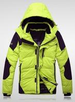 Winter down coat male short design velvet thickening outdoor ski suit plus size
