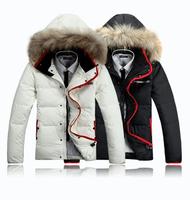 Men's clothing down coat thickening Men plus size short design slim down coat male