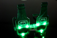 1285 beer bottle flashing glasses luminous ball masks halloween masquerade party supplies