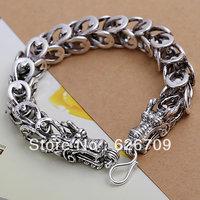 JH001 promotion wholesale 925 solid Silver bracelet 2013 Fashion charm Jewelry bracelets for women/men Dragon chain Bracelet