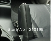Free shipping Hot Mitsubishi Outlander EX Sew leather handbrake sleeve feel good high quality wholesale price XUJI