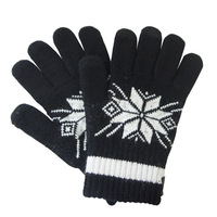 1PCS Free Shipping,Classic Snowflake Design Screen Touch Gloves, Men's Winter Warm Touch Screen Gloves for All Capacitive Device