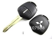 Mitsubishi Triton Lancer Evo 2 Button Remote Key Shell Case Blank  with Logo