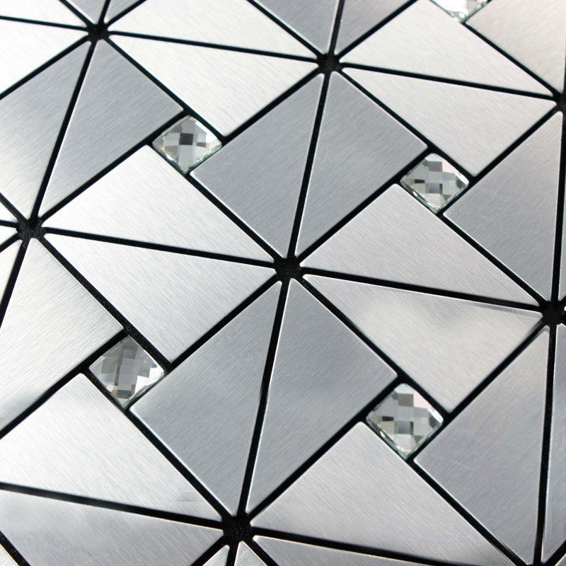Keuken Aluminium Plaat : Diamond Mosaic Tile Kitchen Backsplash