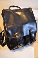 2015  New Fashion Bag Retro Women Backpack PU Leather Black School Bags Travel Bag for Women in Stock
