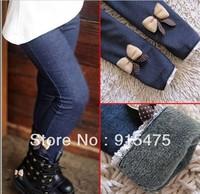 Free shipping! fall and winter pants girls leggings children pants kids Full Length bowknot pants 5 pcs/lot
