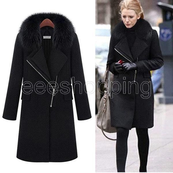 Ladies Long Black Coat