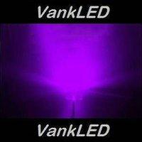 1000pcs/Lot New  5mm Straw Hat Ultra Bright  Purple/UV Wide Angle LED Light Lamp