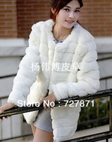 women's medium-long faux fur coat