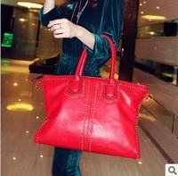 Fashion rivet red black bags one shoulder cross-body bags large 2013 bag women's handbag