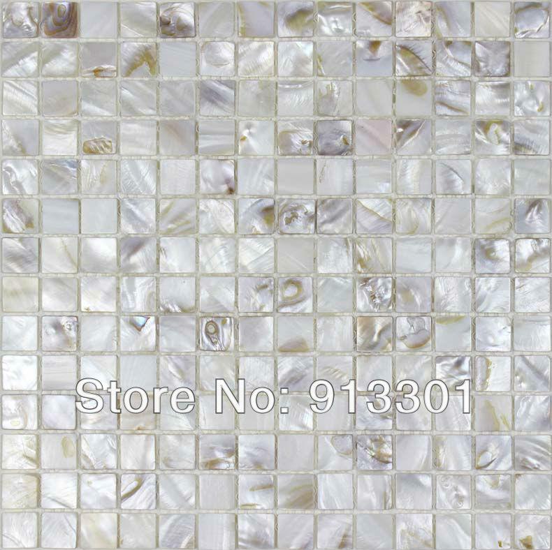 free shipping shell mosaic floor tile sheets seashell tile