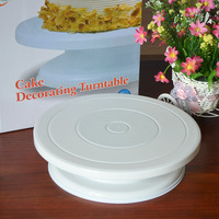 "1PCS high quality 11"" Rotating Revolving Cake Sugar craft Turntable Decorating Stand Platform Free Shipping"