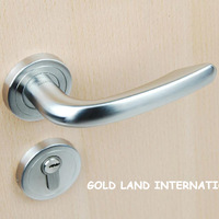 85mm Free shipping  2pcs handles with lock body+keys 304 stainless steel door lock wood door lock