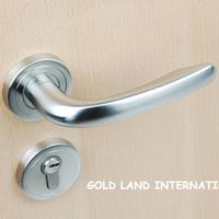 85mm Free shipping  2pcs handles with lock body+keys 304 stainless steel door lock wood door lock