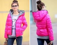 NEW Style HOT 4 COLORS Women's Outwear Winter Warm Hoodie Zip Up Down Jacket Coat New