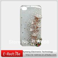 Luxury Shining Diamond Crystal Plastic Phone Smart Covers for Iphone 4