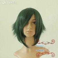 New cosplay Akira Deep green Anti-alice short hair Wig+Gift
