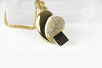 hot usb  Best selling Jewelry Heart shape USB Drive Flash 1GB 2GB 4GB 8GB 16GB 32GB  Free Shipping