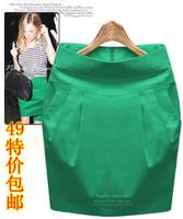 Summer women's bust skirt slim bud skirt ol dress high waist slim hip medium skirt step skirt