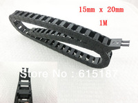 15mm x 20mm Flexible Semi Enclosed Towline Drag Chain Carrier 100cm