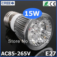 2PCS/LOT High Power Cree E27 LED 15W Bulb e27 Socket Lamp Spotlight CE/RoHS High Power Energy-saving Warm/Cool white
