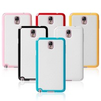 Bumper Frame PC + TPU Cases For Samsung Galaxy Note 3 III Note3 N9000 Bumpers Dual Color With Package Free Shipping