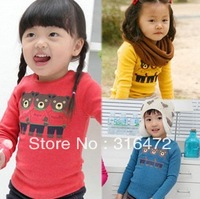 2013 new style three bear T-shirt boy and girl wear long sleeve T-shirt