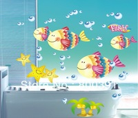 XY8103 Free shipping The third generation wall stickers fish wall stickers child cartoon wall stickers