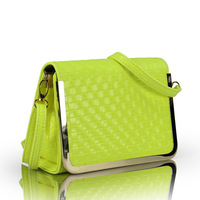 Free Shipping Bags 2013 knitted day clutch small fresh women's one shoulder handbag brief candy color bag
