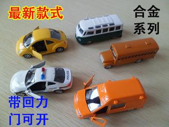 Vw beetle bus school bus police car sedan metal alloy car models toy WARRIOR car . 3