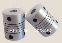 5pcs/lot 6.35x8mm CNC Motor Jaw Shaft Coupler 6.35mm to 8mm Flexible Coupling OD 19x25mm (D19 L25)