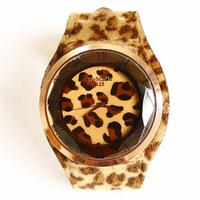 Free shipping Authentic new fashion leopard ladies quartz watch men quartz watch