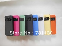 Free Shipping Screen Window Auto Sleep Wake up Function leather Case, 8 Colors Flip Cover for iPhone 5c drop shipping