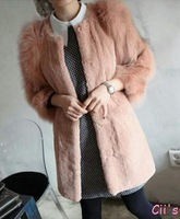 Cii 2013 new winter fashion elegant noble temperament warm seating arrangement Seto rabbit fur fox fur sleeves