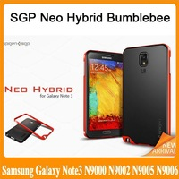 SGP Neo Hybrid Bumblebee Case Cover for Samsung Galaxy Note III 3 Note3 N9000 N9002 N9005 N9006 TPU+PC Frame Free Shipping