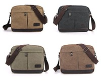 New Men's Durable Sturdy Canvas Rucksack Adjustable Shoulder Messenger Traveling