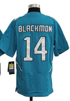 Drop Shipping American Football Youth Jerseys #14 Justin Blackmon Green White Kids Boys Game Jersey Embroidery Sewing logos S-XL