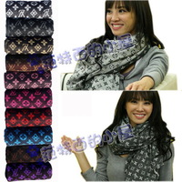 Star autumn and winter general l letter double faced thickening faux tassel scarf cape 220g