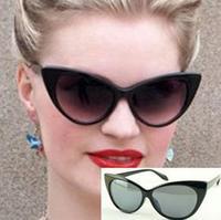 2013 Hot Sale Brand New Designer Women Vintage Cat Eye Sunglasses Fashion Retro Sunglasses Multi Colors Drop Shipping  # WY131