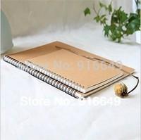 Free shipping, 16K kraft paper cover Sketchbook, Notebook, 100 sheets